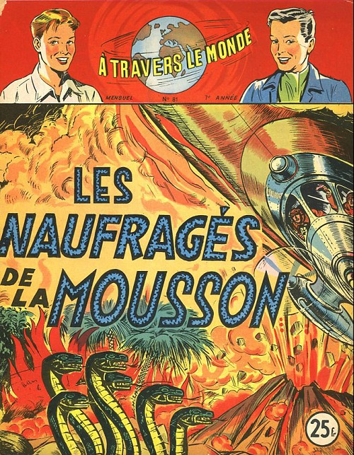 Couverture de À travers le monde (2e série) -81- Les Naufragés de la mousson