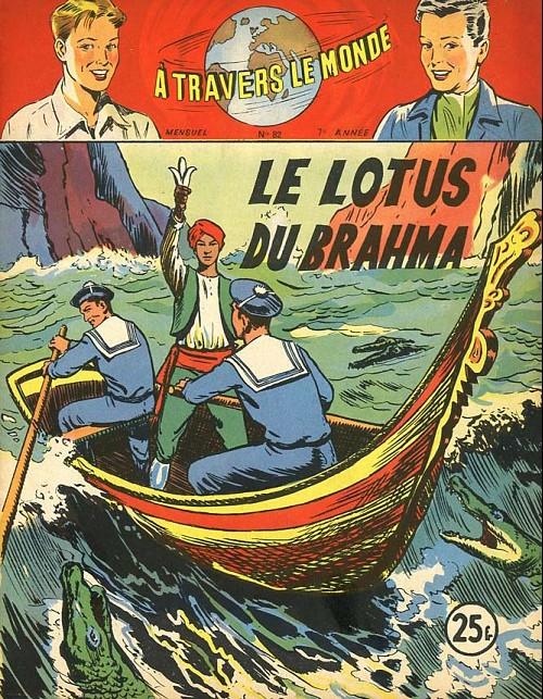 Couverture de À travers le monde (2e série) -82- Le Lotus du Brahma