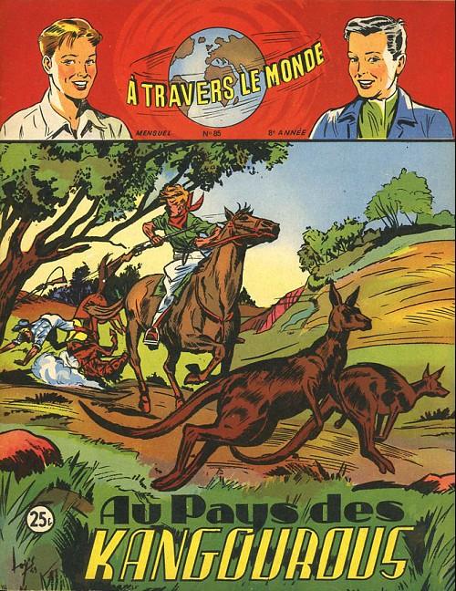 Couverture de À travers le monde (2e série) -85- Au pays des kangourous