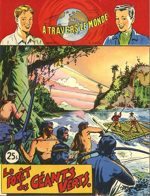 Couverture de À travers le monde (2e série) -92- La Forêt des géants verts