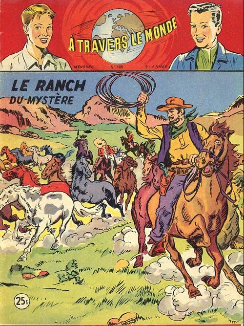 Couverture de À travers le monde (2e série) -106- Le Ranch du mystère