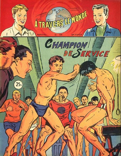 Couverture de À travers le monde (2e série) -109- Champion de service