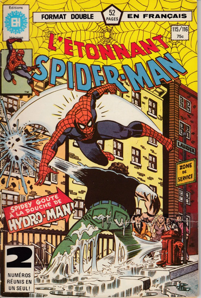 Couverture de L'Étonnant Spider-Man (Éditions Héritage) -115116- Spidey goûte à la douche d'Hydro-man
