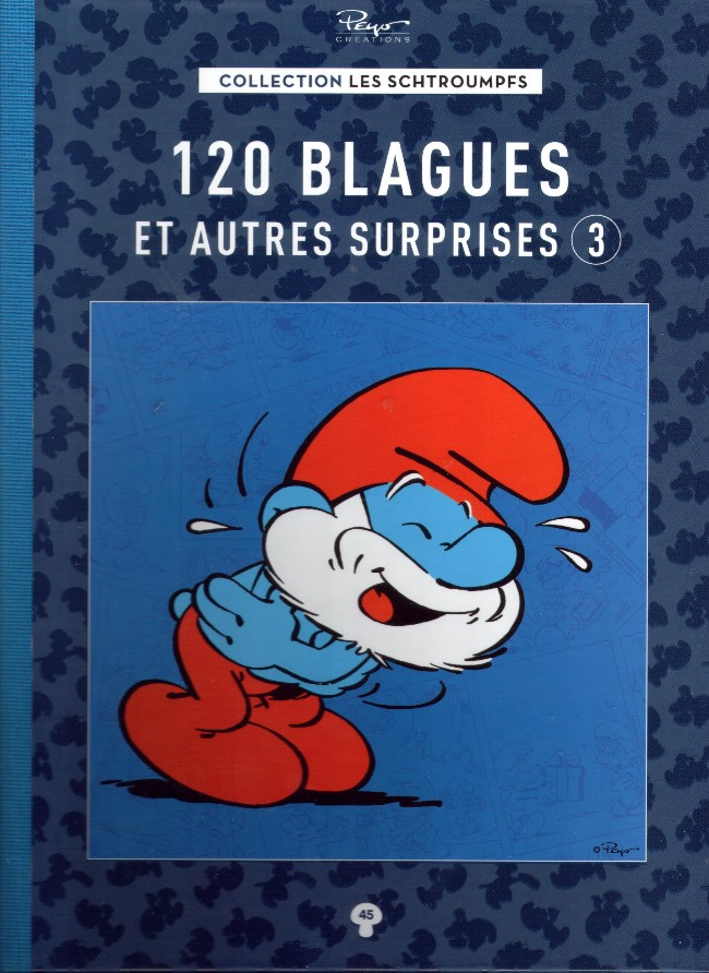 Couverture de Les schtroumpfs - La collection (Hachette) -45- 120 blagues et autres surprises 3