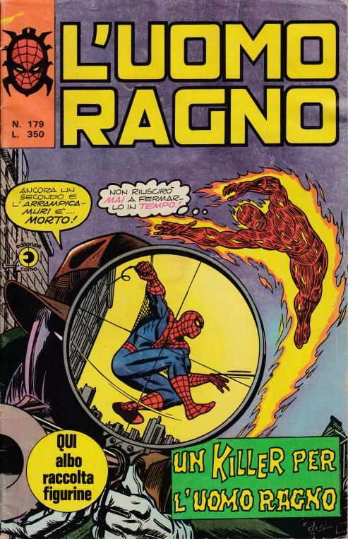 Couverture de L'uomo Ragno (Editoriale Corno) V1 -179- Un killer per l'Uomo Ragno