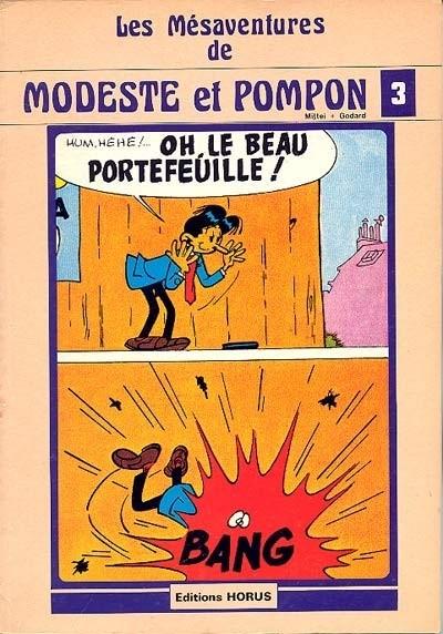 Couverture de Modeste et Pompon (Mittéï/Godard) -3- Les mesaventures de Modeste et Pompon 3