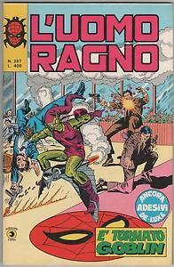 Couverture de L'uomo Ragno V1 (Editoriale Corno - 1970)  -257- E' tornato Goblin