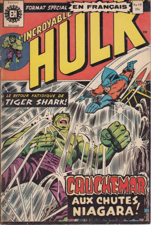 Couverture de L'incroyable Hulk (Éditions Héritage) -19- Cauchemar aux chutes Niagara !