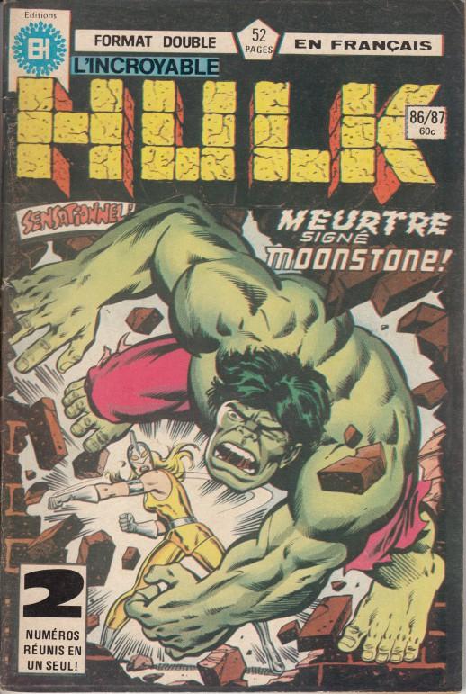 Couverture de L'incroyable Hulk (Éditions Héritage) -8687- Meurtre signé Moonstone !