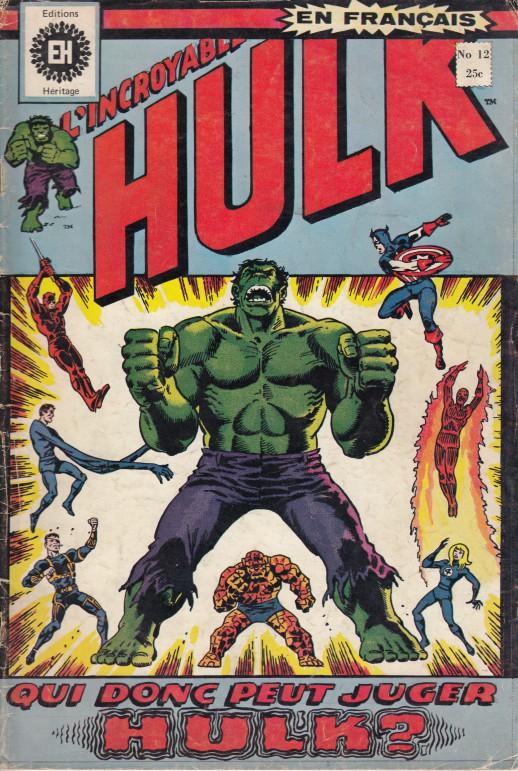 Couverture de L'incroyable Hulk (Éditions Héritage) -12- Qui donc peut juger Hulk ?