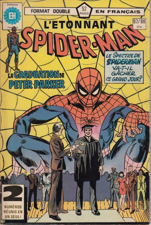 Couverture de L'Étonnant Spider-Man (Éditions Héritage) -8788- La graduation de Peter Parker
