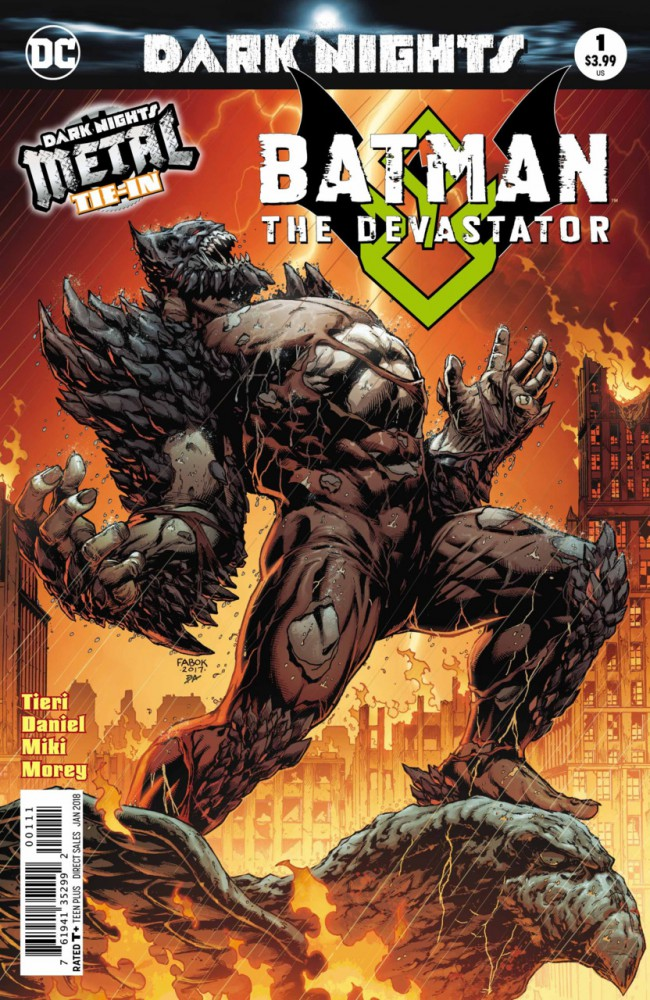 Couverture de Batman: The Devastator (2017) -1- Symphony of Destruction