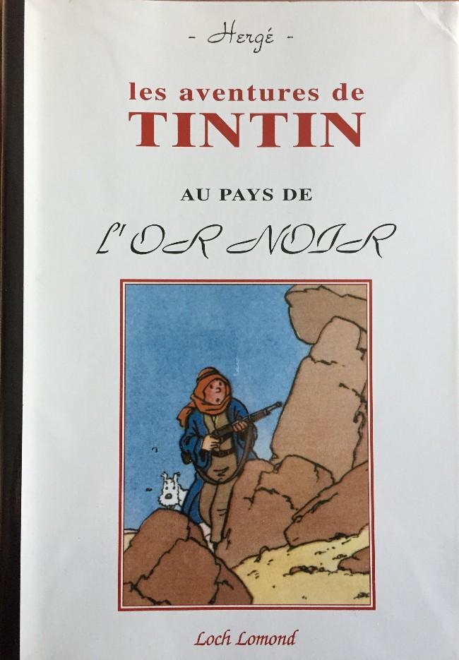 Couverture de Tintin - Pastiches, parodies & pirates - Tintin au pays de l'or noir