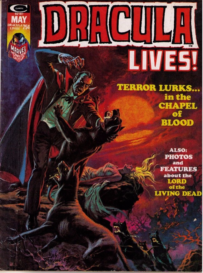 Couverture de Dracula lives! (1973) -6- Terror lurks...in the chapel of blood