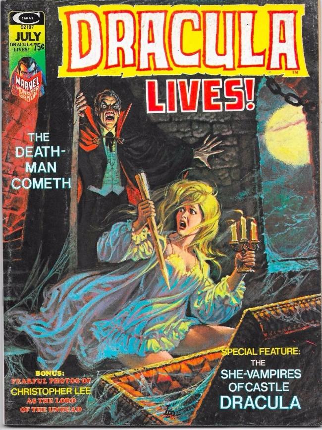 Couverture de Dracula lives! (1973) -7- The death-man comet