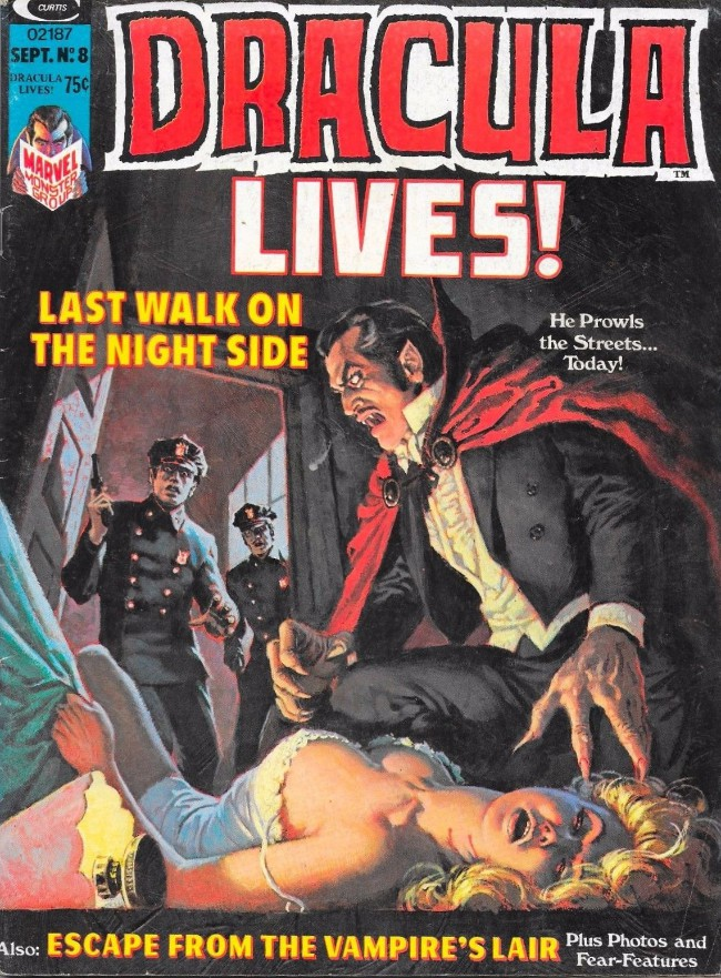 Couverture de Dracula lives! (1973) -8- Last walk on the night side
