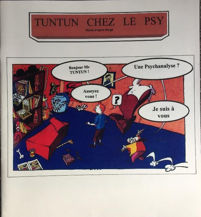 Couverture de Tintin - Pastiches, parodies & pirates - Tuntun chez le psy