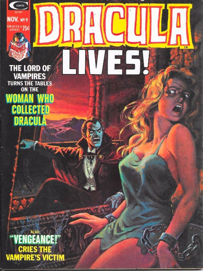 Couverture de Dracula lives! (1973) -9- The woman who collected Dracula