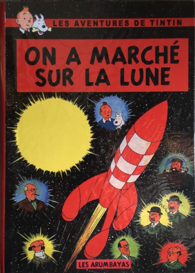 Couverture de Tintin - Pastiches, parodies & pirates - On a marché sur la Lune