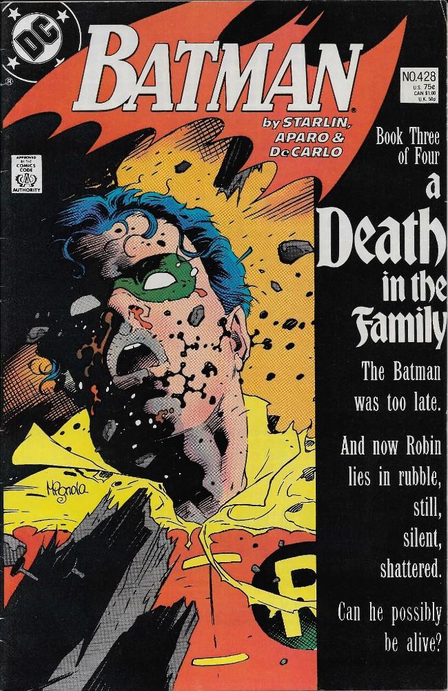 Couverture de Batman Vol.1 (DC Comics - 1940) -428- A Death in the Family Chapter 3