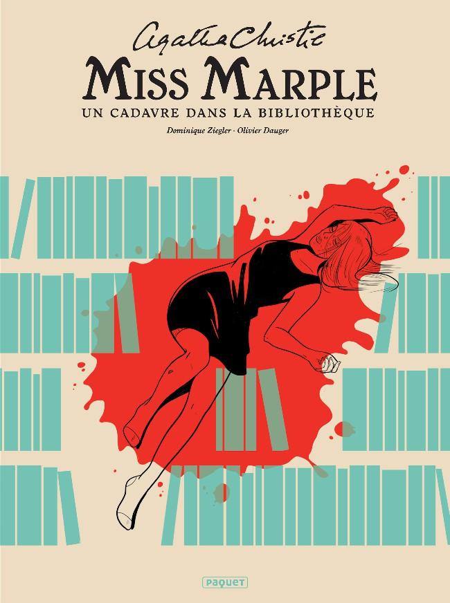 Couverture de Miss Marple -1- Un cadavre dans la bibliothèque