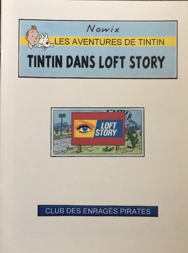 Couverture de Tintin - Pastiches, parodies & pirates - Tintin dans Loft Story