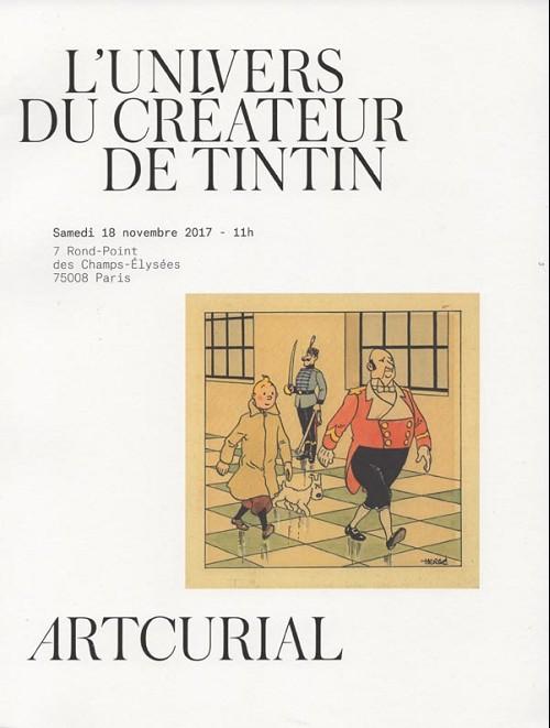 Couverture de (Catalogues) Ventes aux enchères - Artcurial - Artcurial - L'univers du créateur de Tintin - samedi 18 novembre 2017