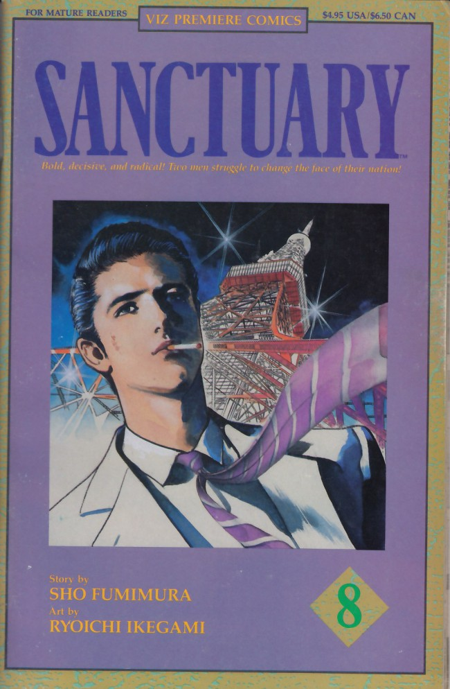 Couverture de Sanctuary (1992) -8- Chapter 22: Pressure/Chapter 23: Scissors-Paper-Stone/Chapter 24: To Open the Country