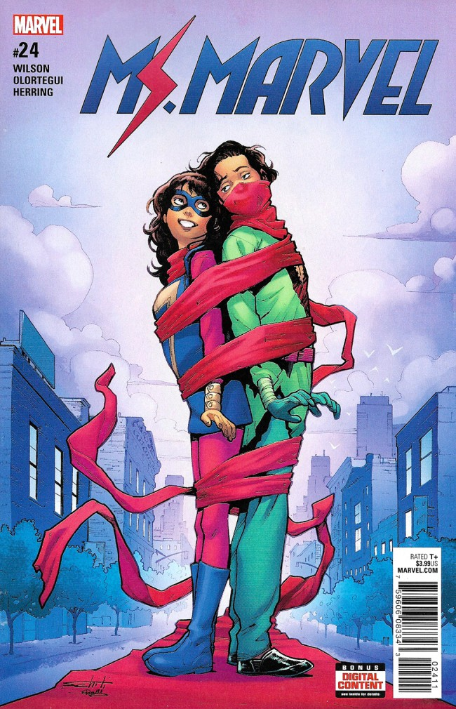 Couverture de Ms. Marvel (2016) -24- Northeast Corridor Part Two