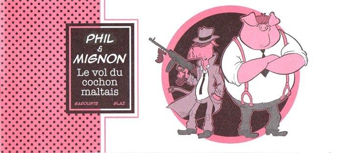 Couverture de Mini-récits et stripbooks Spirou -MR4151- Phil et Mignon, le vol du cochon maltais