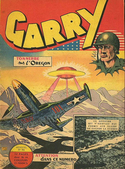Couverture de Garry (sergent) (Imperia) (1re série grand format - 1 à 189) -94- Tonnerre sur l'oregon