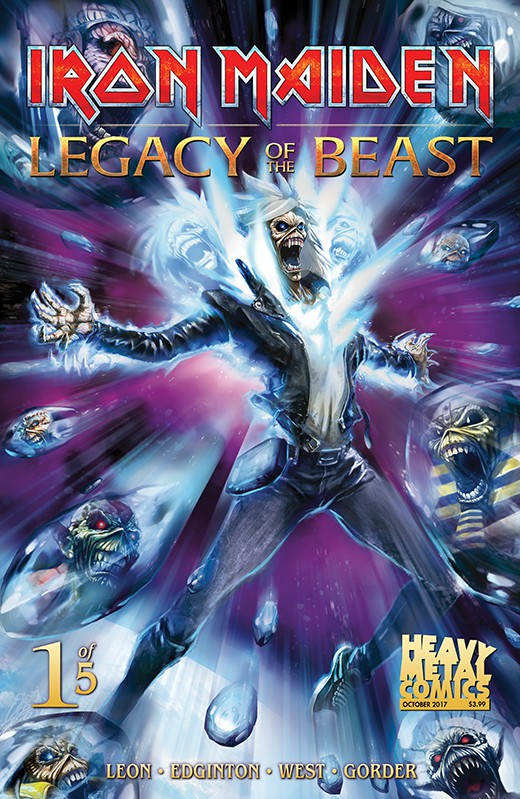 Couverture de Iron Maiden: Legacy of the Beast (2017) -1- Legacy of the Beast #1