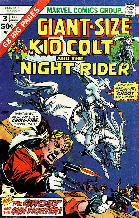 Couverture de Giant-size Kid Colt (1975) -3- Kid Colt and the Ghost gun-fighter !