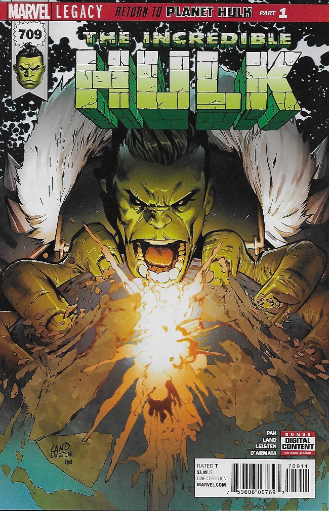 Couverture de Incredible Hulk (The) (2017) -709- Return To Planet Hulk Part 1