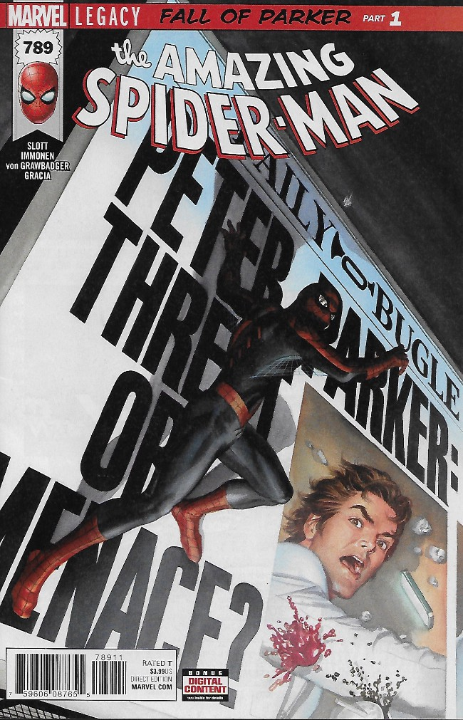 Couverture de Amazing Spider-Man (The) (Marvel Legacy - 2017) -789- Fall of Parker Part 1