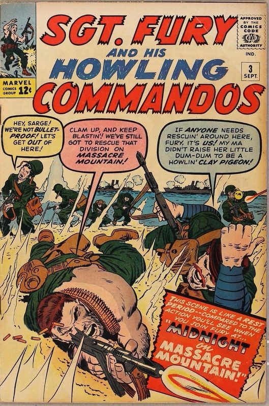 Couverture de Sgt. Fury and his Howling Commandos (Marvel - 1963) -3- Midnight on Massacre Mountain!