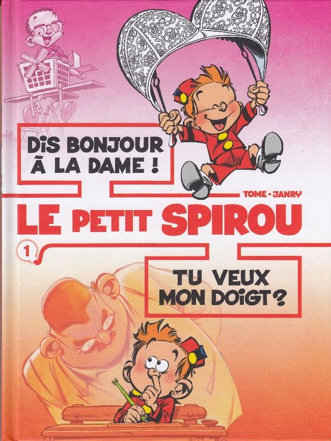Couverture de Le petit Spirou (Albums doubles) -1- Dis bonjour à la dame ! / Tu veux mon doigt ?