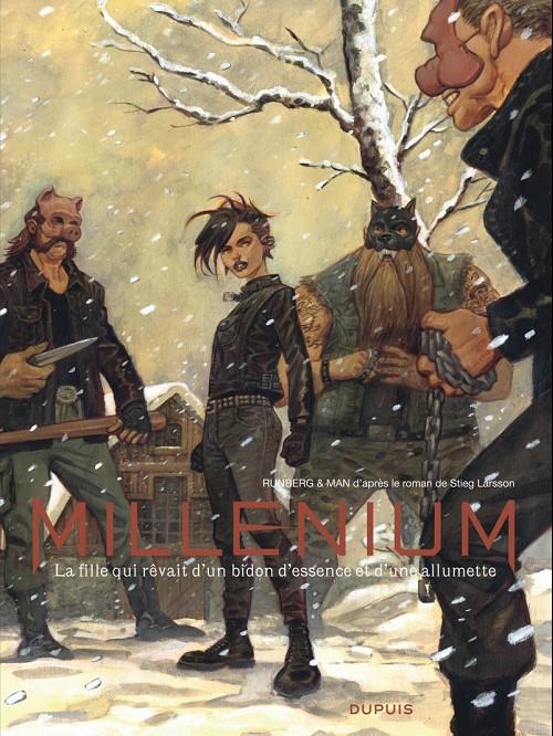 Couverture de Millénium -INT2- La fille qui rêvait d'un bidon d'essence et d'une allumette