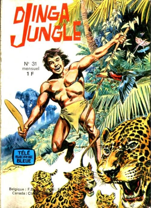 Couverture de Télé série bleue (Les hommes volants, Destination Danger, etc.) -31- Djinga jungle - Les gnomes des falaises