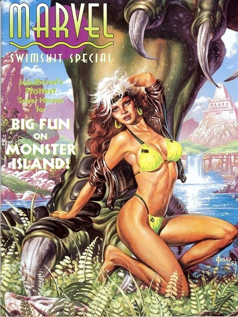 Couverture de Marvel Swimsuit Special (1992) -2- Big fun on monster island!