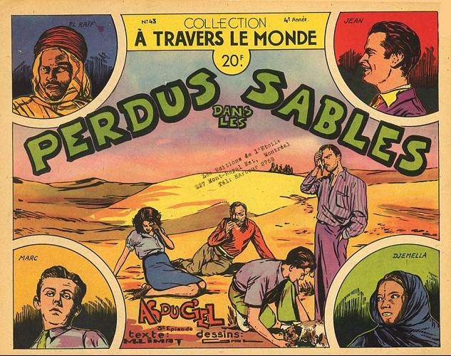 Couverture de À travers le monde (2e série) -43- Perdus dans les sables