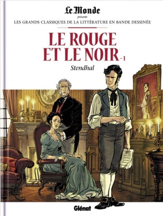 Couverture de Les grands Classiques de la littérature en bande dessinée -25- Le Rouge et le Noir - 1