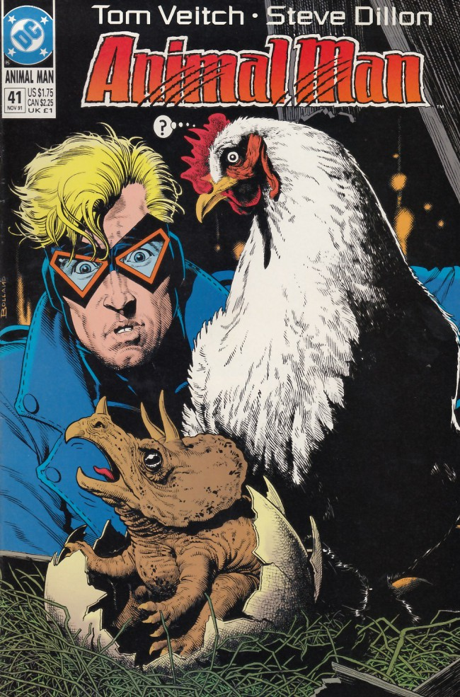 Couverture de Animal Man Vol.1 (DC comics - 1988) -41- The Stone That Cracked Open The Earth Like An Egg
