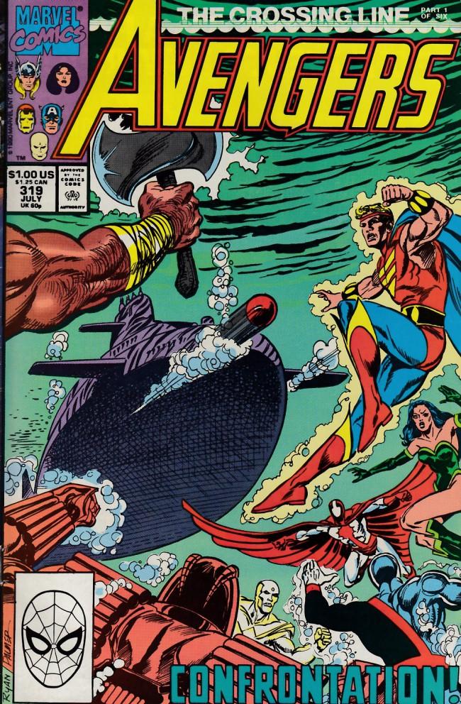 Couverture de Avengers Vol. 1 (Marvel Comics - 1963) -319- The crossing line part 1