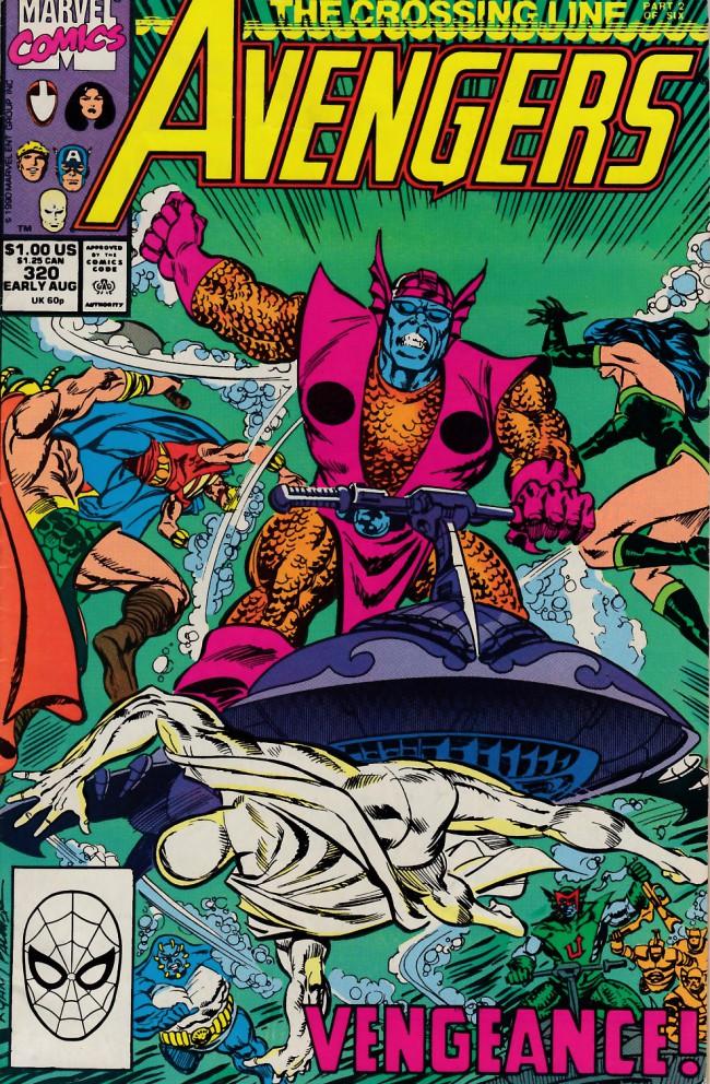 Couverture de Avengers Vol. 1 (Marvel Comics - 1963) -320- The crossing line part 2