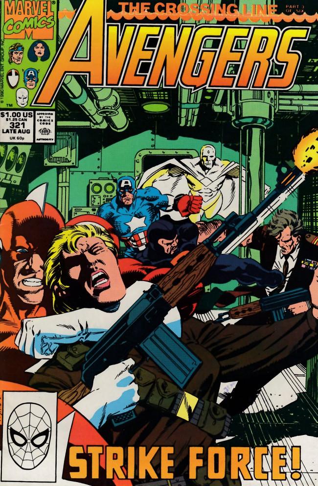 Couverture de Avengers Vol. 1 (Marvel Comics - 1963) -321- The crossing line part 3