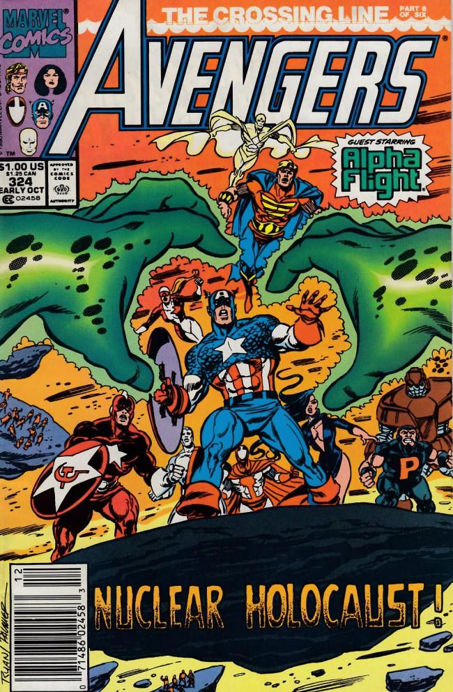 Couverture de Avengers Vol. 1 (Marvel Comics - 1963) -324- The crossing line conclusion