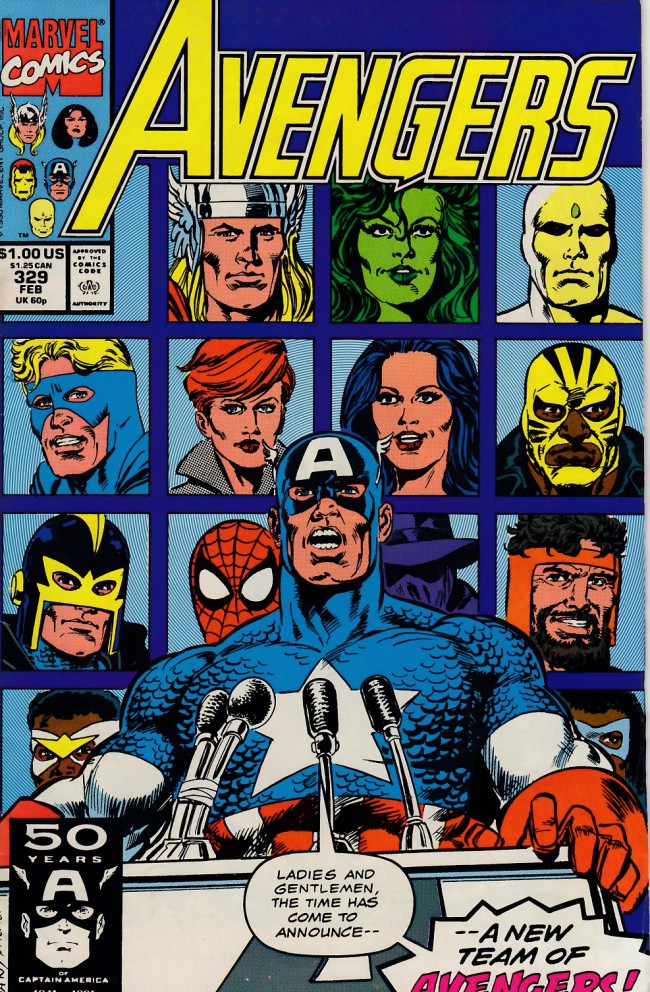 Couverture de Avengers Vol. 1 (Marvel Comics - 1963) -329- Starting line-up