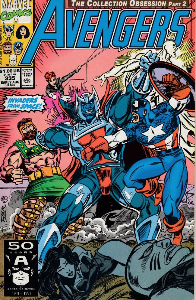 Couverture de Avengers Vol. 1 (Marvel Comics - 1963) -335- Bloody encounter