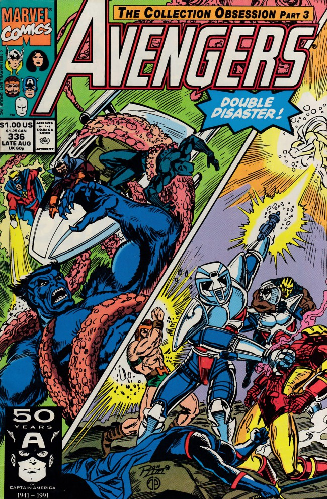 Couverture de Avengers Vol. 1 (Marvel Comics - 1963) -336- For here we make our stand !
